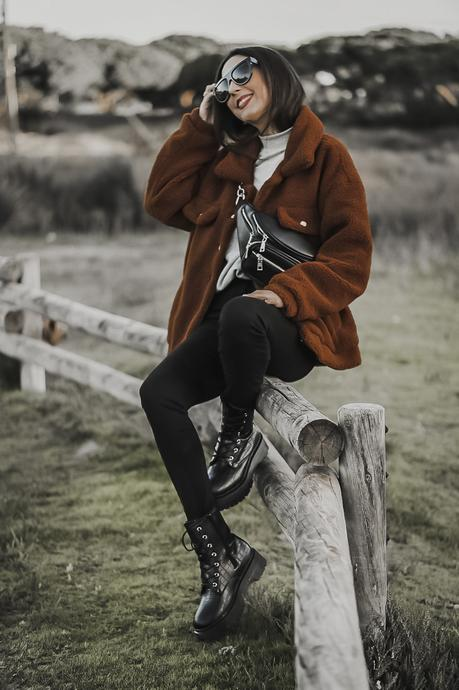 SPRING OUTFITS : TEDDY JACKET AND MILITARY BOOTS