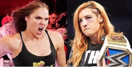 Ronda Rousey  golpeó  de verdad  a Becky Lynch