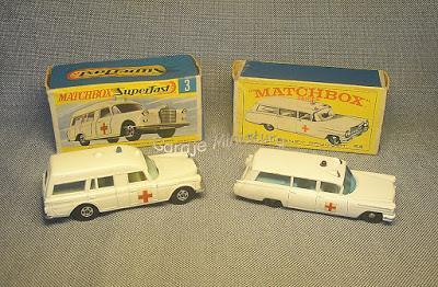 Dos ambulancias de Matchbox