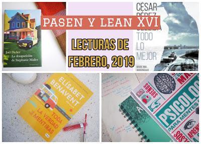 Pasen y lean XIV: Lecturas de febrero 2019 + nueva sección