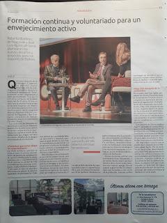 Nuestro Presidente José Luis Agirre intervino en una Jornada sobre el Envejecimiento Activo