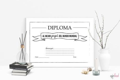 Freebie: Diploma día del padre