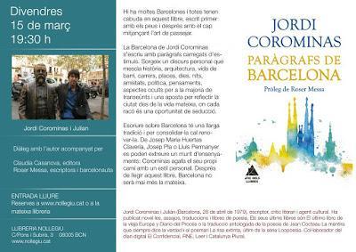 Presentación de Paràgrafs de Barcelona