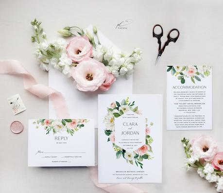 ▷ 25 invitaciones de boda para imprimir tú misma y ahorrar