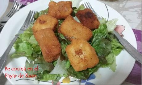 Nuggeets de pescado con queso