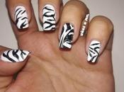 Diseño uñas cebra