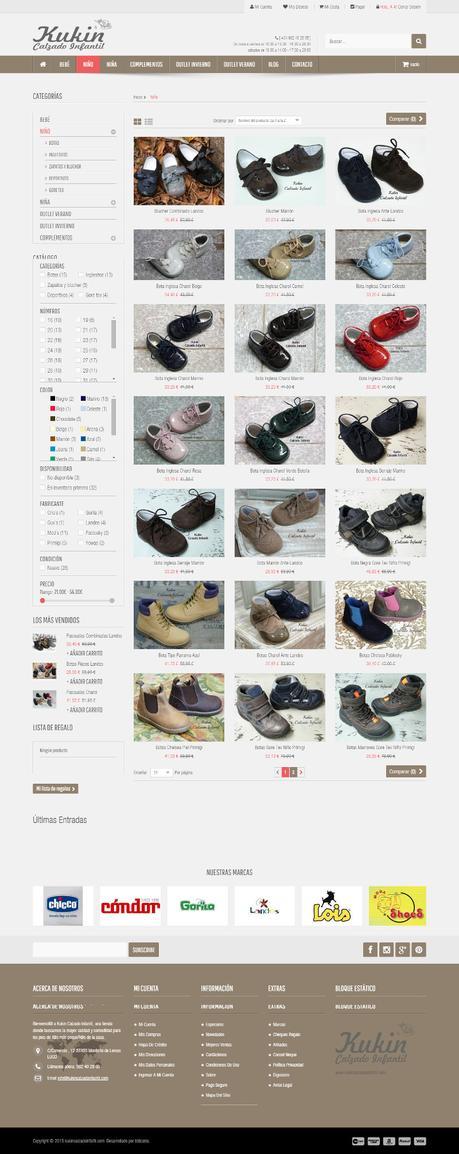 Tiendas online hechas con Prestashop - kukin calzado infantil2