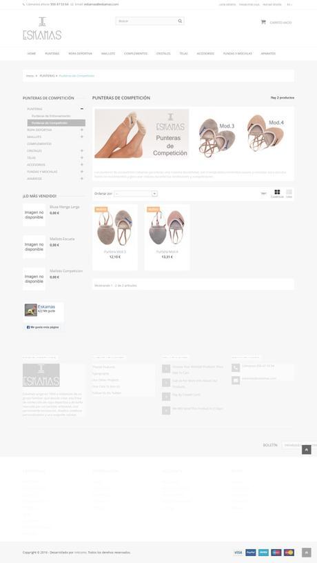 Ejemplos tiendas online Prestashop