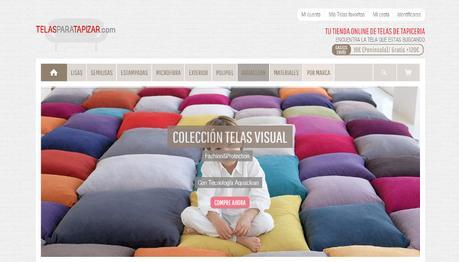 Tiendas online hechas con Prestashop - telas para tapizar