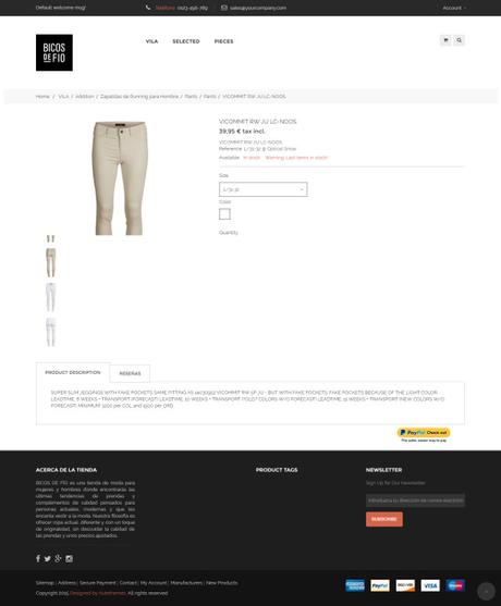 Ejemplos tiendas online hechas en Prestashop