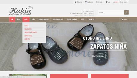 Tiendas online hechas con Prestashop - kukin calzado infantil
