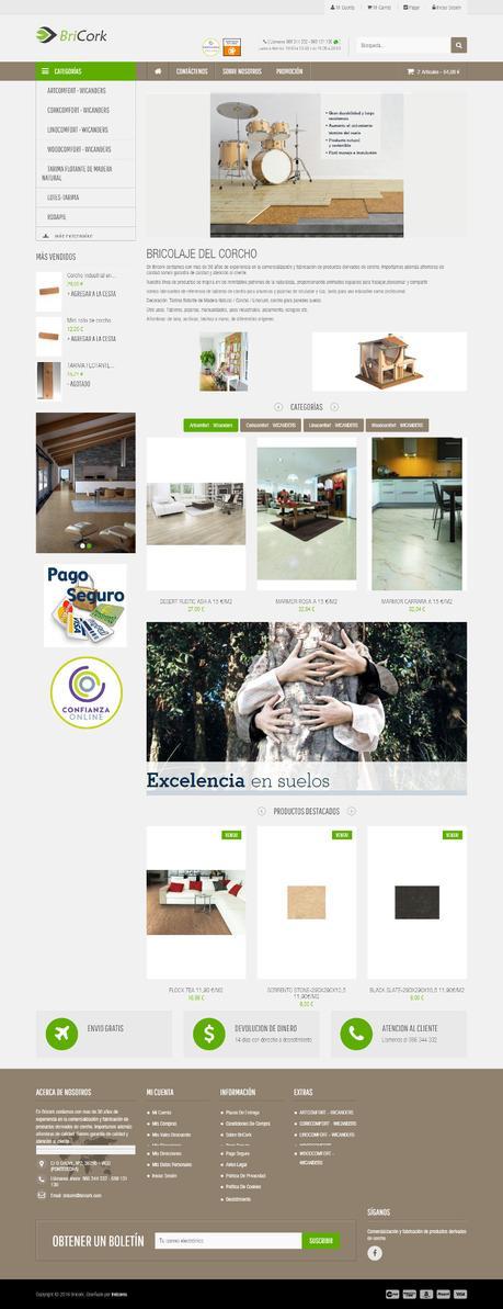Tiendas online hechas con Prestashop - bricork