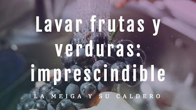 Lavar frutas y verduras: imprescindible