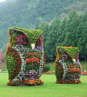 """""""Arte topiario"""" impresionates esculturas hechas con setos."""