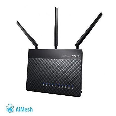ASUS RT-AC68U - Router inalámbrico AC1900 Dual-band Gigabit (punto de acceso, USB, soporta 3G/4G, compatible con Ai Mesh wifi)