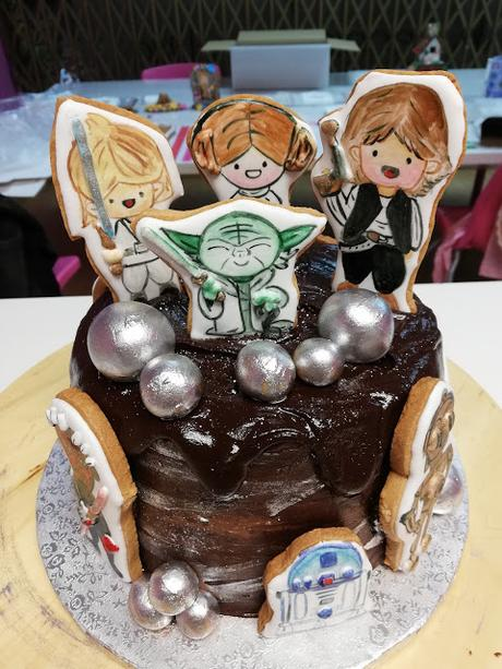 TARTA STAR WARS CON GALLETAS