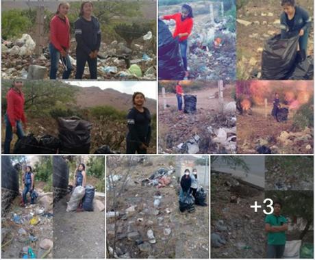 Alumnos de Santa María del Río realizan el Basura Challenge