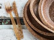Platos cubiertos desechables comestibles