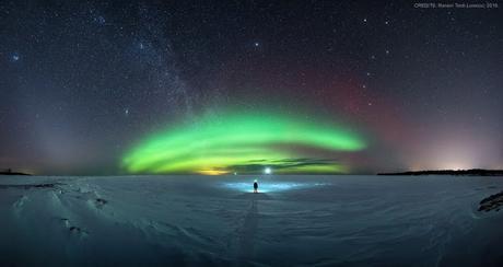 Una sinfonía en los cielos invernales del norte