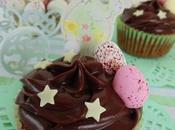 Cupcakes chocolate fondant para pascua