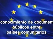 Reconocimiento documentos públicos entre países comunitarios
