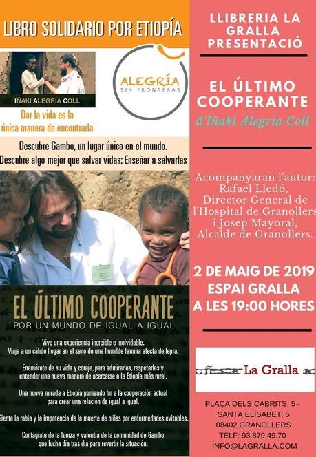 Presentación en Granollers 2 de Mayo Librería La Gralla: El último cooperante, por un mundo de igual a igual
