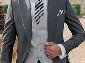 Traje novio chaqué gris