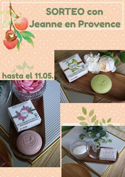 ¡SORTEO EXPRESS- un kit de 3 Jabones Sólidos de JEANNE EN PROVENCE!