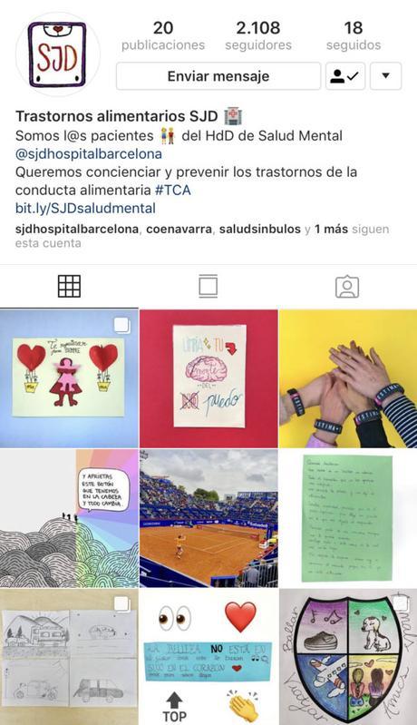 Sant Joan de Déu crea la primera cuenta de Instagram como herramienta terapéutica para el tratamiento de la anorexia y la bulimia