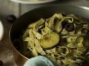 Pasta salsa cremosa calabacín