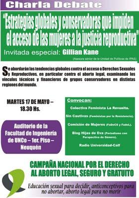 Charla Debate en Neuquén: Disertación de Gillian Kane