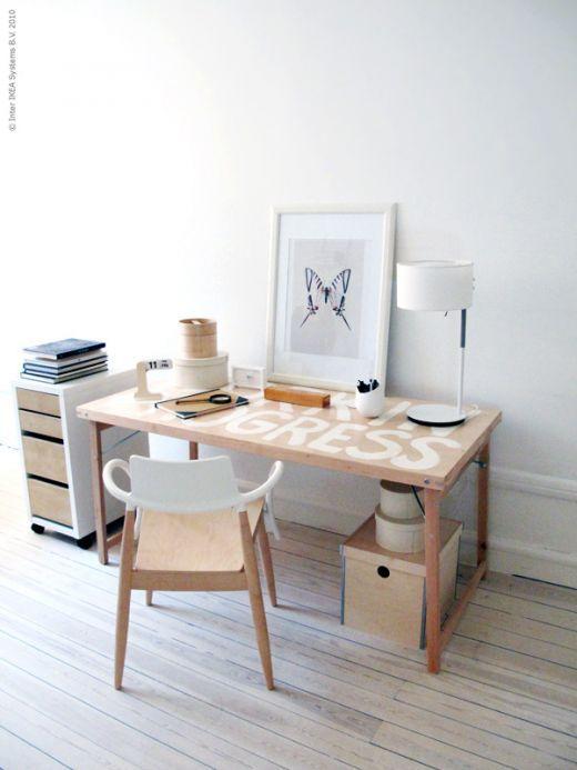 Ikea hack mesa plegable como mesa de trabajo paperblog for Mesas de estudio ikea