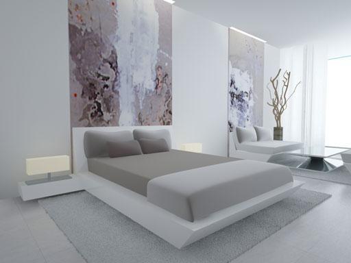 A cero presenta su interiorismo en las viviendas de las - Cuadros para salones minimalistas ...