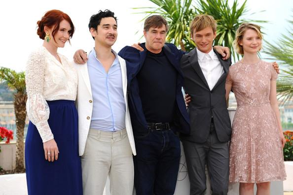 Bryce Dallas Howard Producer Bryce Dallas Howard, actor Jason Lew, director Gus van Sant, actor Henry Hopper and actress Mia Wasikowska attends the 'Restless' photocall during the 64th Annual Cannes Film Festival in France.