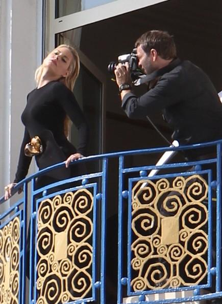 Aimee Mullins Actress Aimee Mullins poses for a photographer on a balcony of the Martinez Hotel at the 64th Annual Cannes Film Festival.