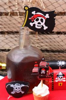 Mesa de dulces pirata