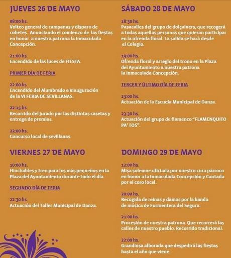 Formentera del Segura. Fiestas Patronales de la Purísima y VI Feria de Sevillanas 2011