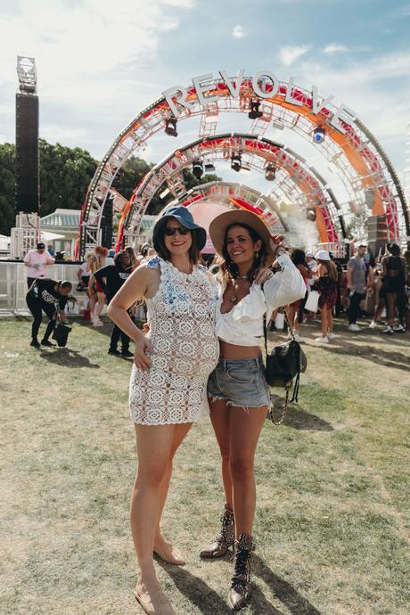 Sara of Collage Vintage at Revolve Festival Spring Summer 2019