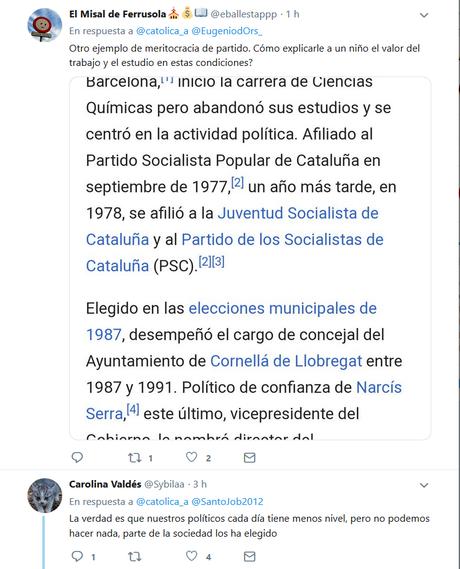Miquel Iceta, presidente del Senado. Otro político sin estudios ni profesión conocida
