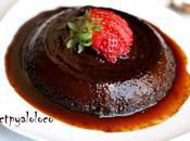 Flan chocolate lactosa