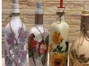 Decora botellas vidrio recicladas servilletas decoupage