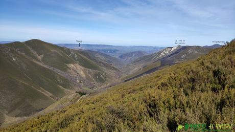 Desde la Patana, vista hacia Tineo y Peña Manteca