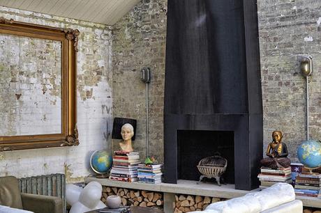 Casa Inglesa en Estilo Rustico Industrial