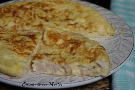 Tortilla de pavo y queso
