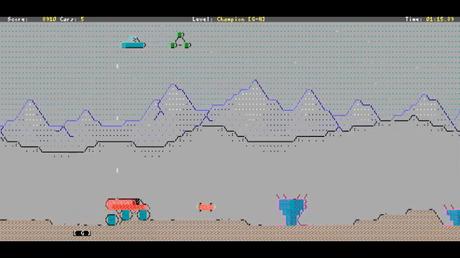 Pantalla del juego en ASCII