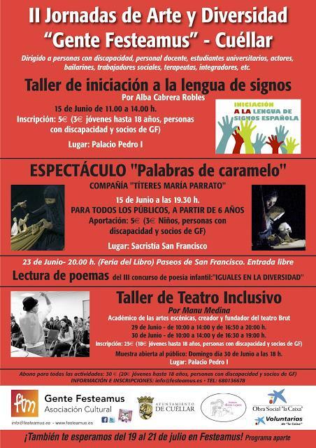 Teatro inclusivo en FESTEAMUS, Cuellar, por Manu Medina.