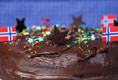 Tropisk aroma, tarta noruega de chocolate