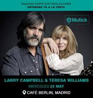 Concierto de Larry Campbell & Teresa Williams en el Café Berlín