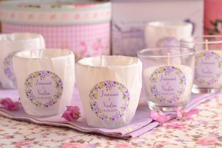Velas personalizadas aromáticas bodas detalles invitados