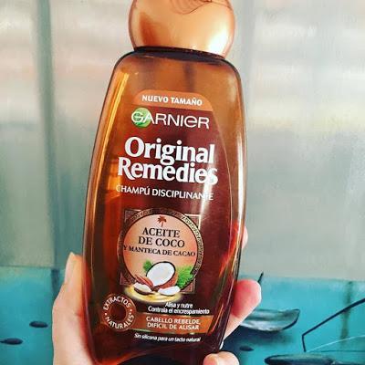 original remedies, champú, aceite de coco, garnier,